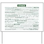 Ethics Awareness Custom Yard Sign