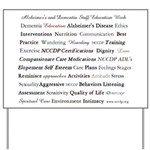 Alzheimer's and Dementia Staff Education Yard Sign