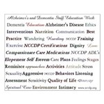 Alzheimer's and dementia Education Small Poster