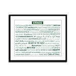 Ethics Awarness Framed Print