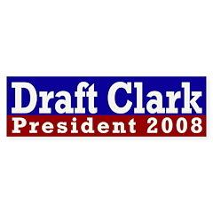 Draft Clark 2008 (bumper sticker)
