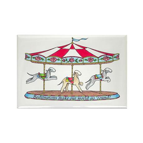 Bedlington Carousel Rectangle Magnet