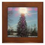 Christmas Peace Framed Tile