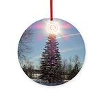 Christmas Peace Ornament (Round)