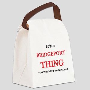 It's a Bridgeport Connecticut Canvas Lunch Bag