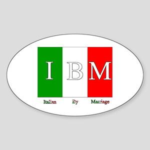 Italian By Marriage Oval Sticker
