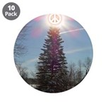 """Christmas Peace 3.5"""" Button (10 pack)"""