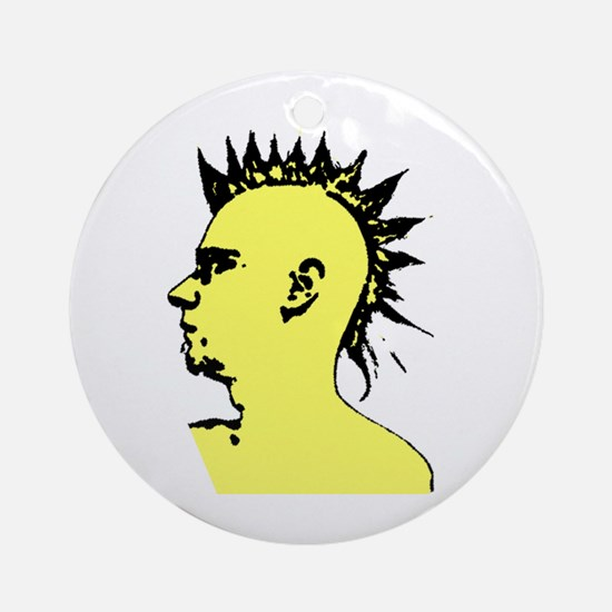 Mohawk Punk Ornament (Round)