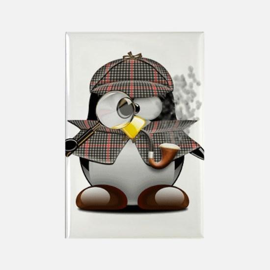 Shelock Penguin Rectangle Magnet