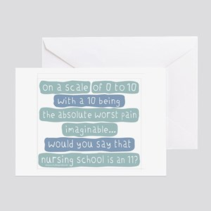 Nursing School Pain Scale Greeting Card
