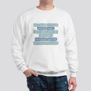 Nursing School Pain Scale Sweatshirt