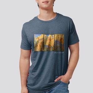 Monet Painting, Rouen Cathedral, Women's Dark T-Sh