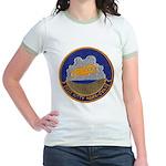 USS KITTY HAWK Jr. Ringer T-Shirt