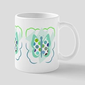 Artsy Polka Dot Butterfly Mug