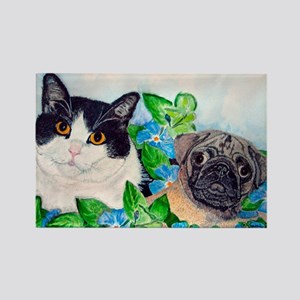 Emmet the Pug & Oreo Rectangle Magnet
