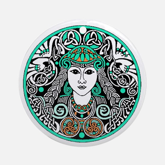 Brigid of Ireland Ornament (Round)