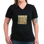 Cracker Women's V-Neck Dark T-Shirt