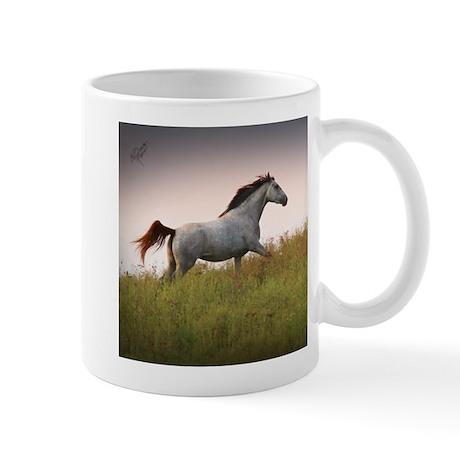 Mug with Saphire Blue Running Horse