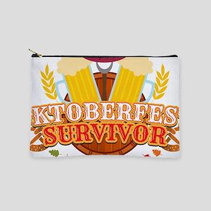 Oktoberfest Survivor German Beer Sausag Makeup Bag
