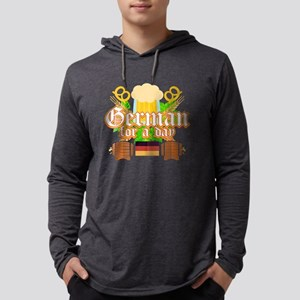 German For A Day Funny Oktober Long Sleeve T-Shirt