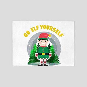 Go Elf Yourself Funny Christmas Quo 5'x7'Area Rug