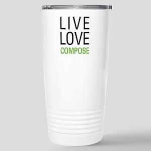 Live Love Compose Stainless Steel Travel Mug