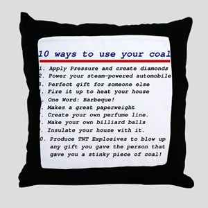 Ways to use your coal Throw Pillow