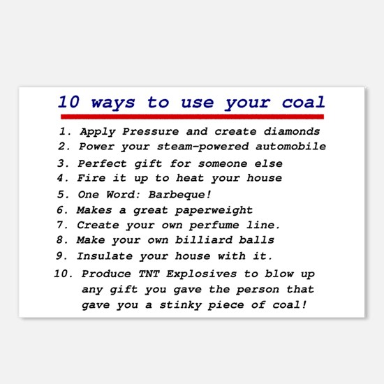 Ways to use your coal Postcards (Package of 8)