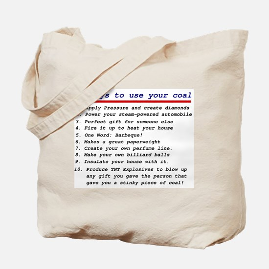 Ways to use your coal Tote Bag