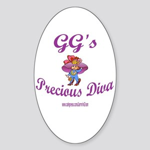 GG'S DIVA Oval Sticker