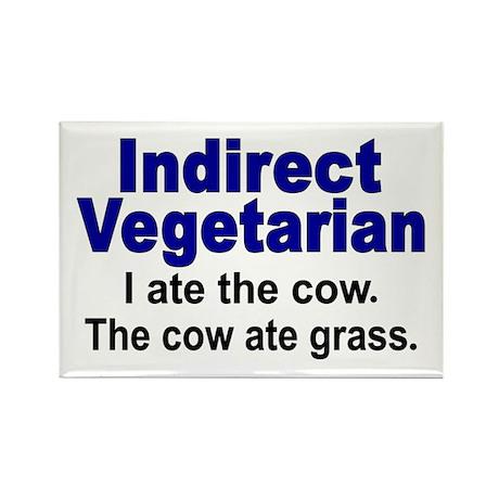 Indirect Vegetarian Rectangle Magnet (10 pack)