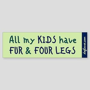Fur and Four Legs Bumper Sticker (mint)