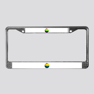 Rainbow Ornament License Plate Frame