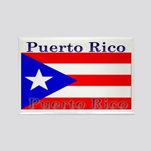Puerto Rico Rican Flag Rectangle Magnet
