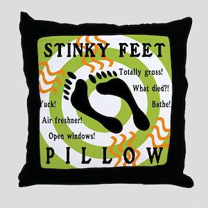 STINKY FEET PILLOW Throw Pillow