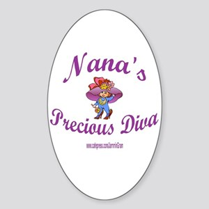 NANA'S DIVA Oval Sticker