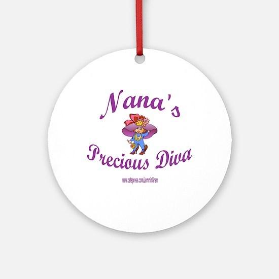 NANA'S DIVA Ornament (Round)