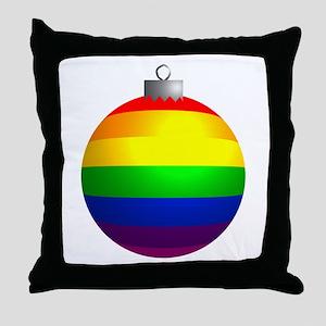 Rainbow Ornament Throw Pillow