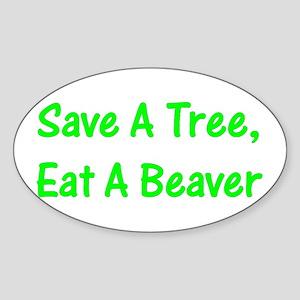 Save A Tree - Oval Sticker