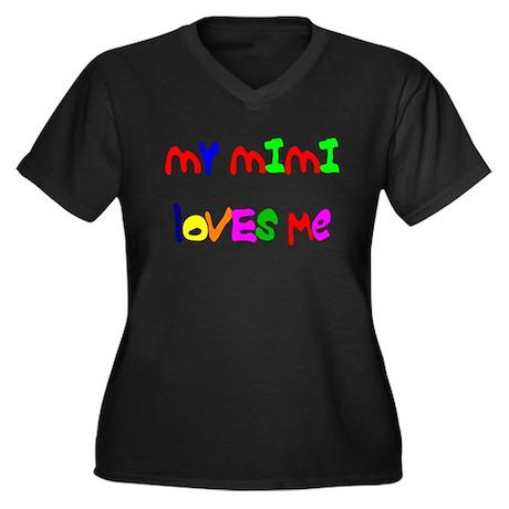 My Mimi Loves Me! (Croobie) Women's Plus Size V-Ne