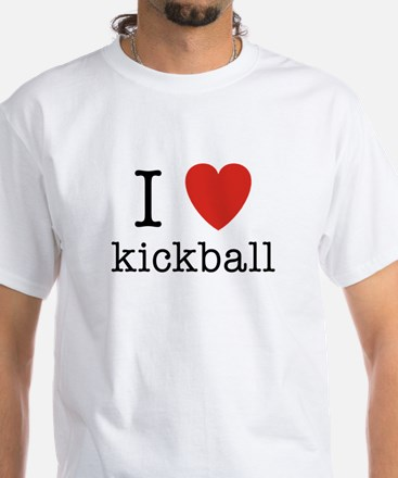 I Heart Kickball White T-Shirt