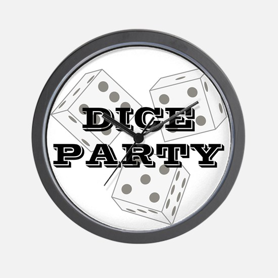 Dice Party Wall Clock