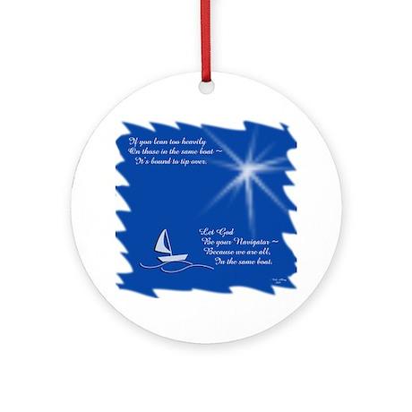 God, Navigator Ornament (Round)