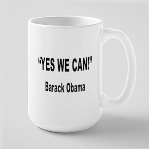 Obama Yes We Can Quote Large Mug