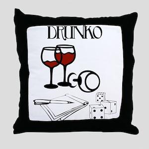 Drunko Throw Pillow