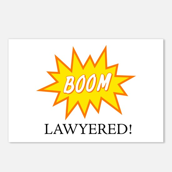 Boom Lawyered! Postcards (Package of 8)