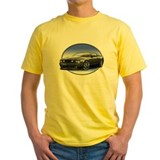 Mustang gt Mens Classic Yellow T-Shirts