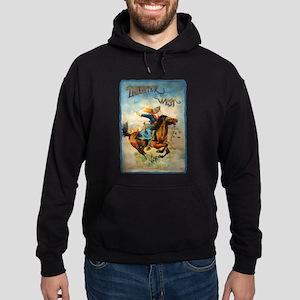 Vintage Cowgirl Roping Hoodie (dark)