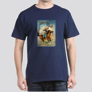 Vintage Cowgirl Roping Dark T-Shirt