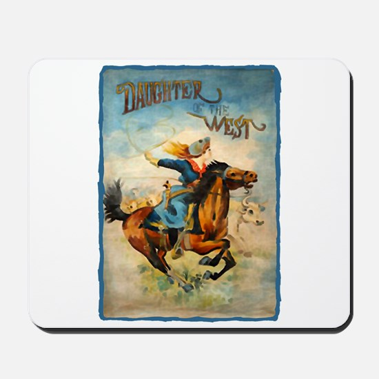 Vintage Cowgirl Roping Mousepad